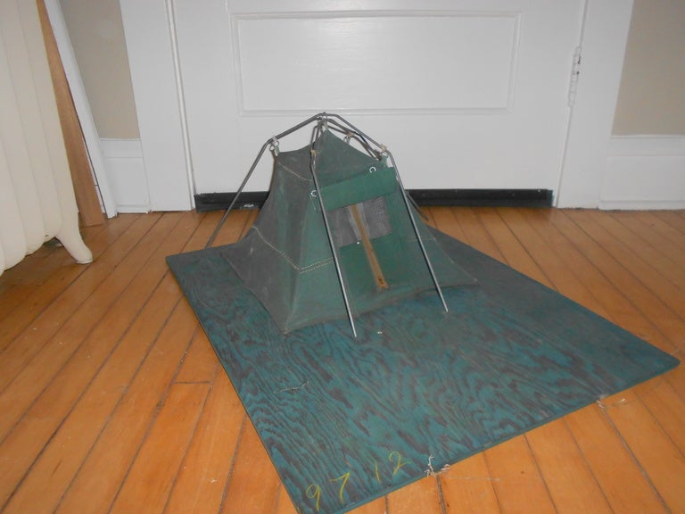 Canvas tent downsized for salesman 39 s sample at 1stdibs for Tent platform design