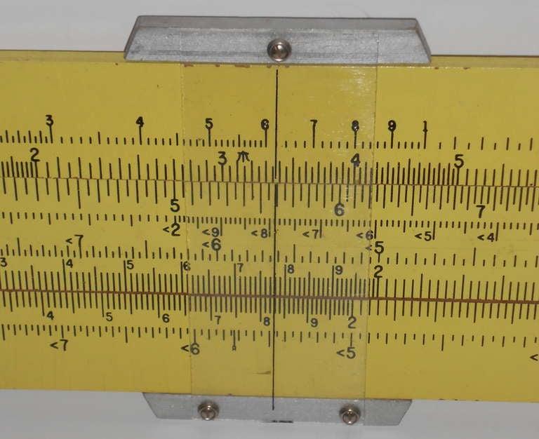 Pickett Slide Rule, 4-foot model for teacher classroom ...