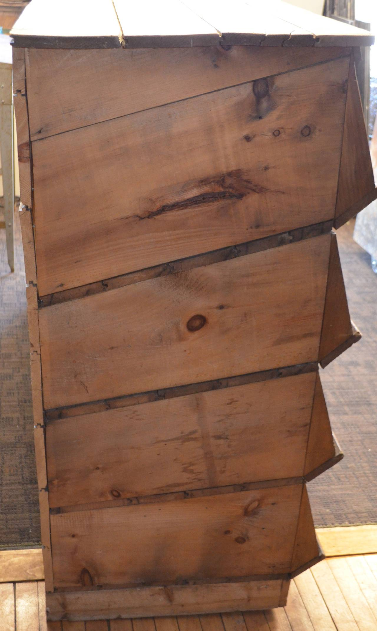 Storage Shelving Unit of Wood was Once Chicken Nesting Box For Sale 3