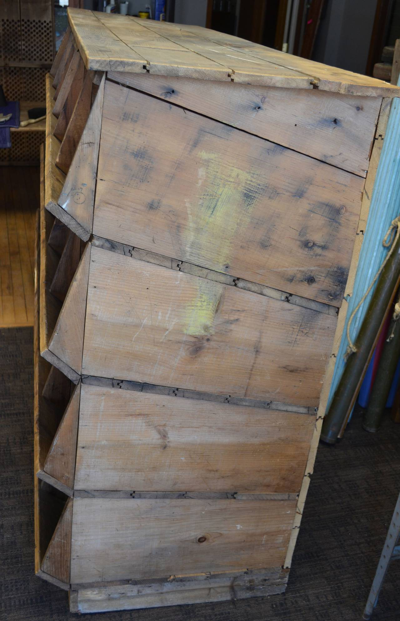 Storage Shelving Unit of Wood was Once Chicken Nesting Box For Sale 4