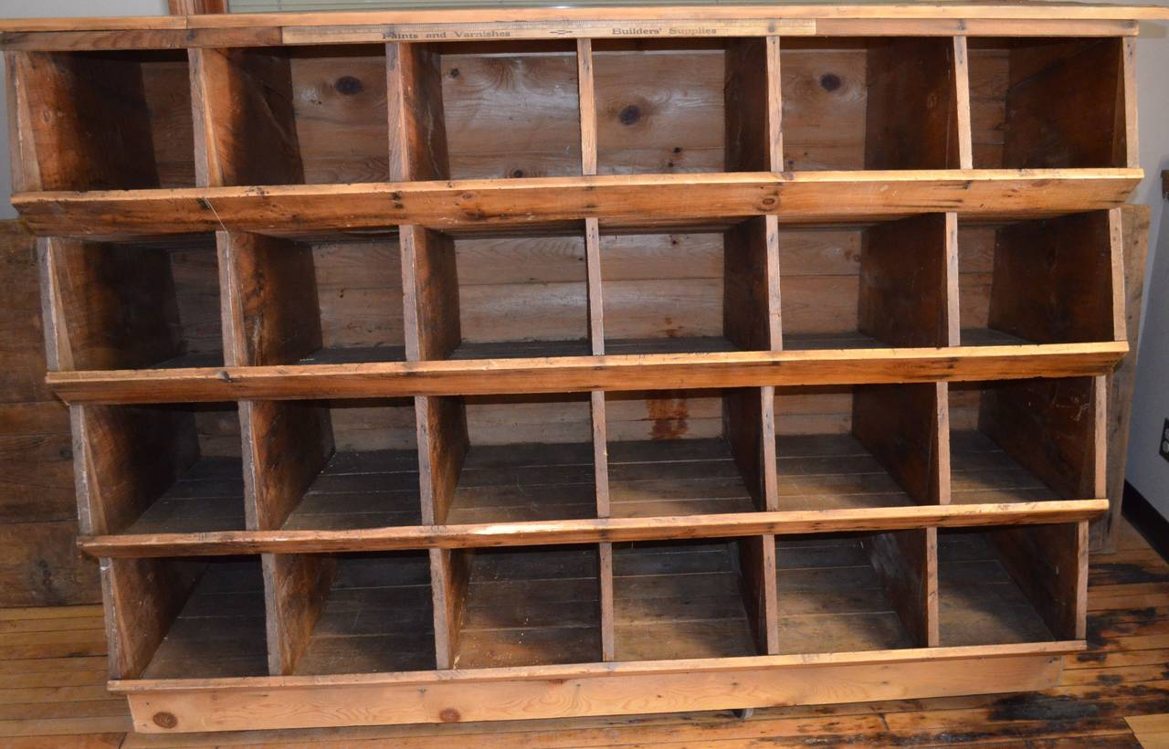 American Storage Shelving Unit of Wood was Once Chicken Nesting Box For Sale