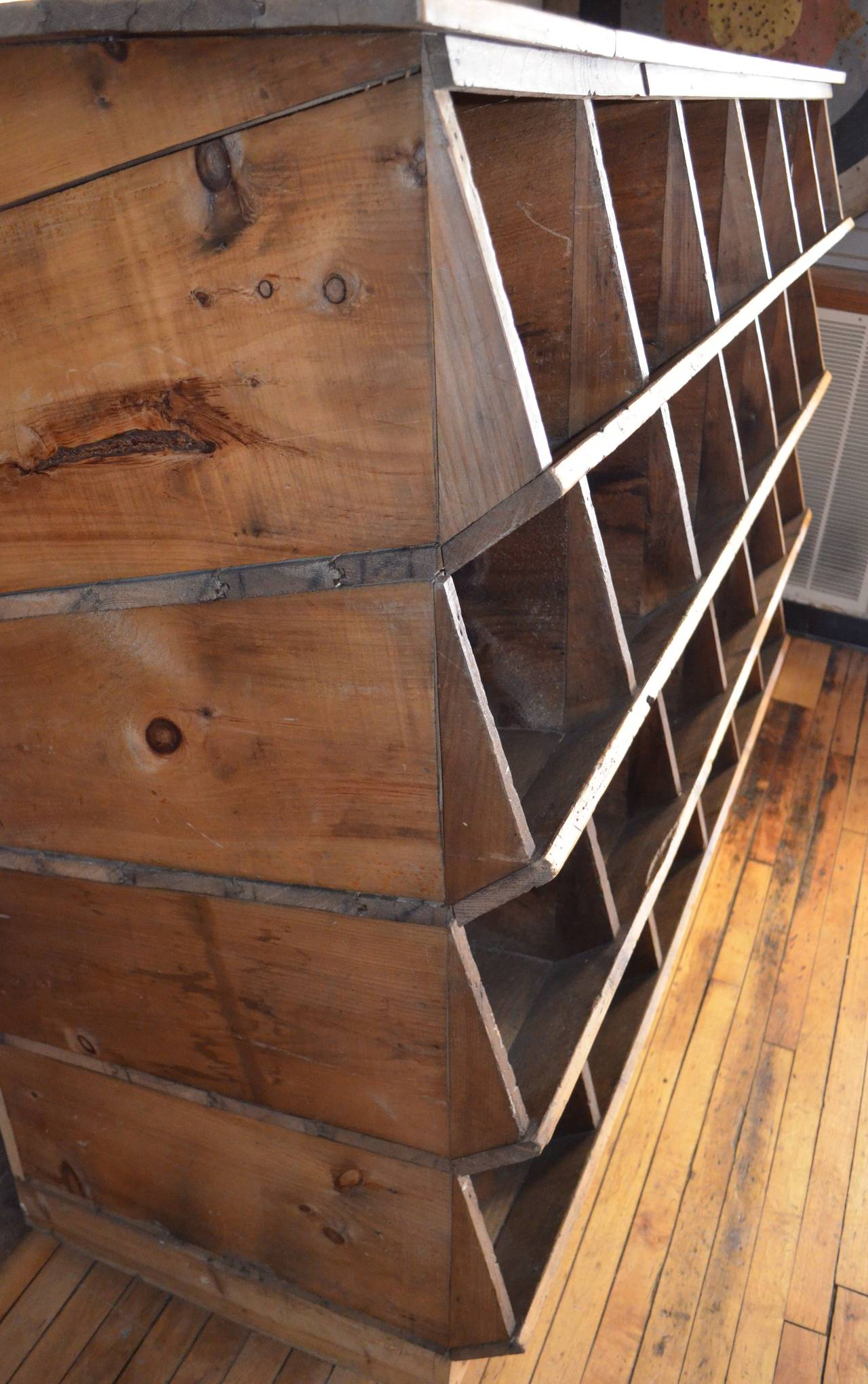 Storage Shelving Unit of Wood was Once Chicken Nesting Box For Sale 1