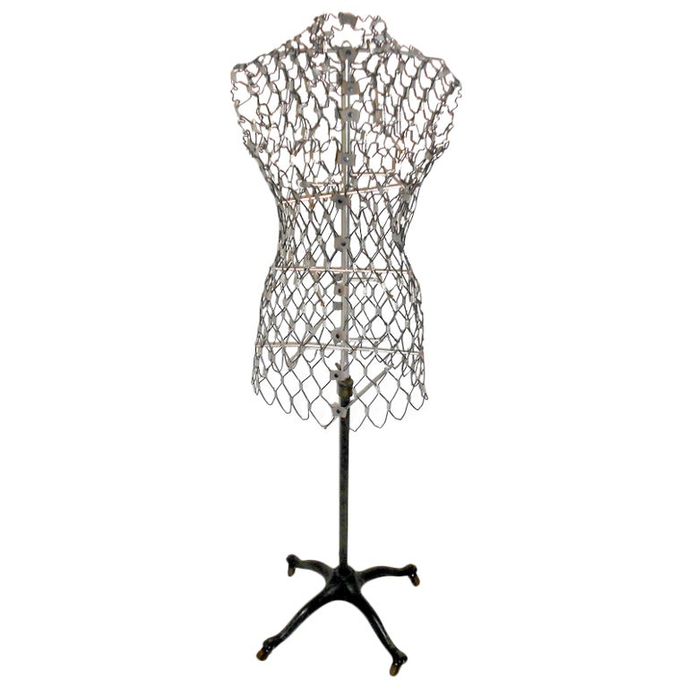 dress form sculpted in coated steel wire at 1stdibs