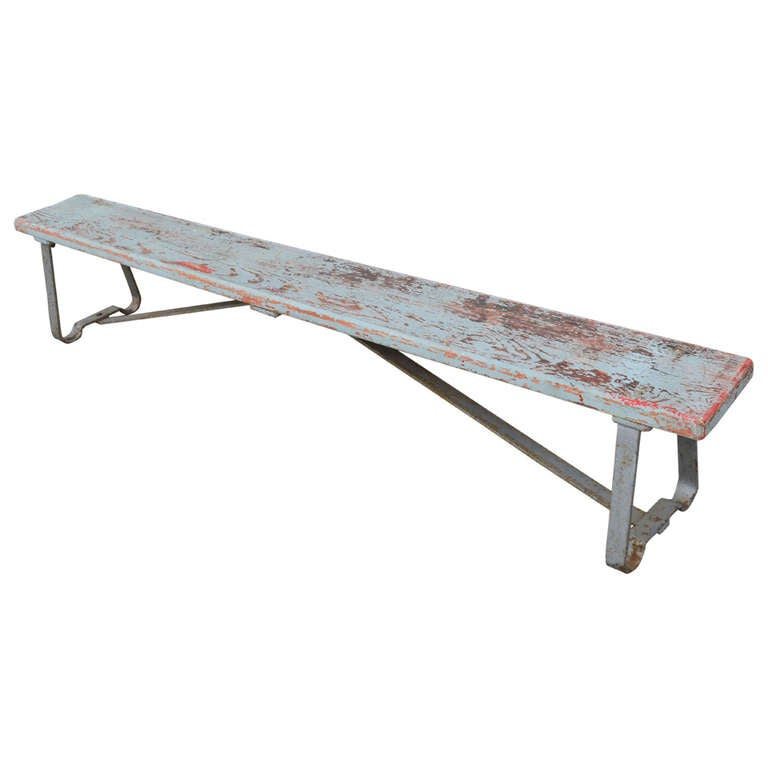 Locker Room Bench Of Wood And Steel 2 Available At 1stdibs