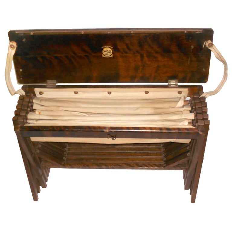 """British Officers """"Cabinetta"""" Campaign Bed at 1stdibs"""
