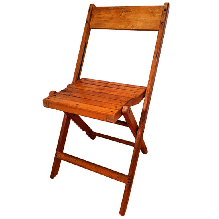 Vintage Wooded Folding Chairs in oak and maple 500 available at 1stdibs