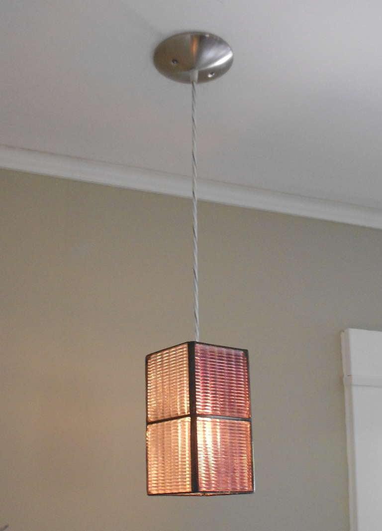 luxfer tile pendant light at 1stdibs