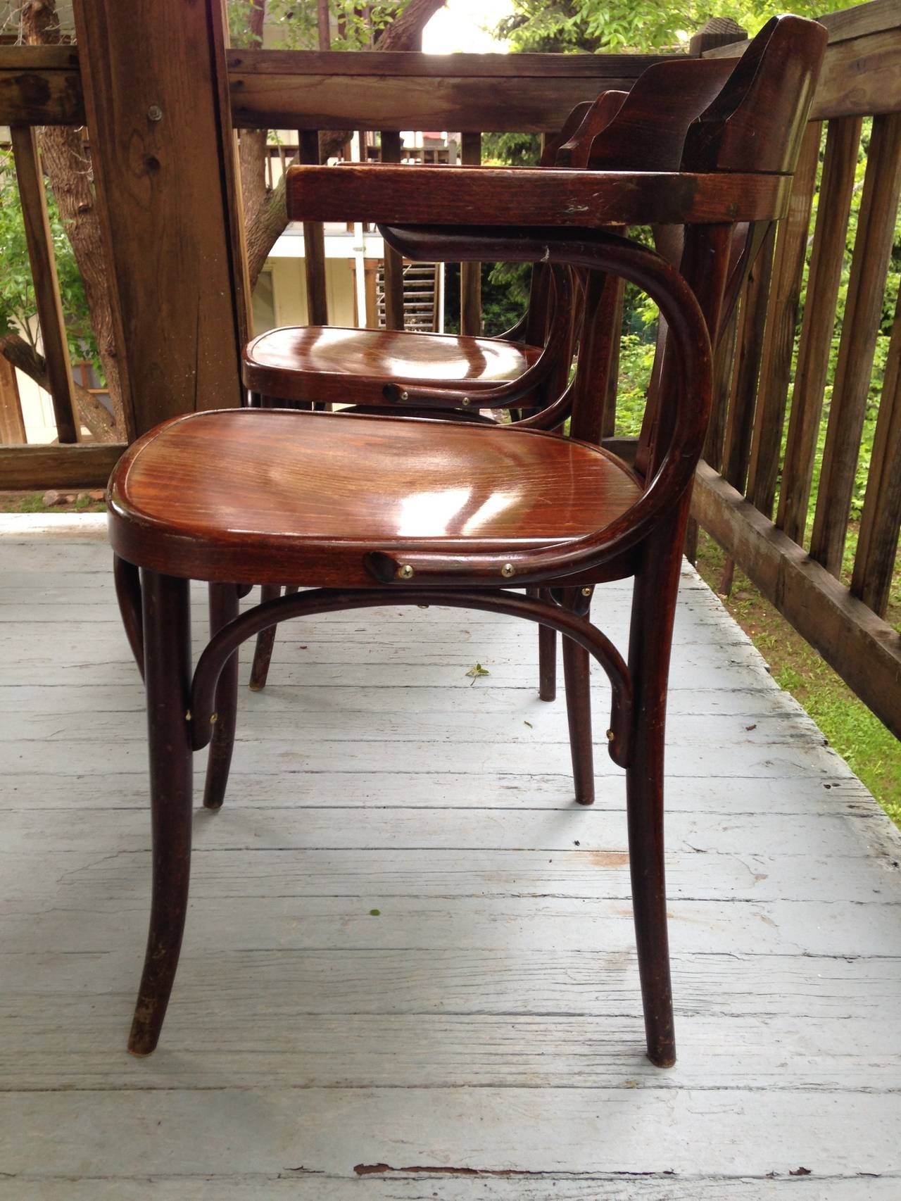 Pair Of Thonet Vienna Style Bentwood Dining Chairs 12 Chairs Available A