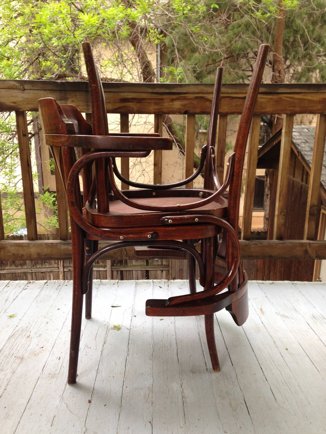 Pair Of Thonet Vienna Style Bentwood Dining Chairs 12 Chairs Available I