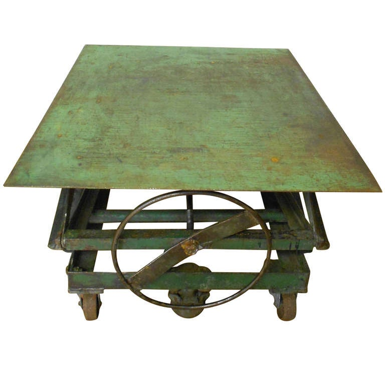 Steel Top Scissor Lift As Coffee Table End Dining For
