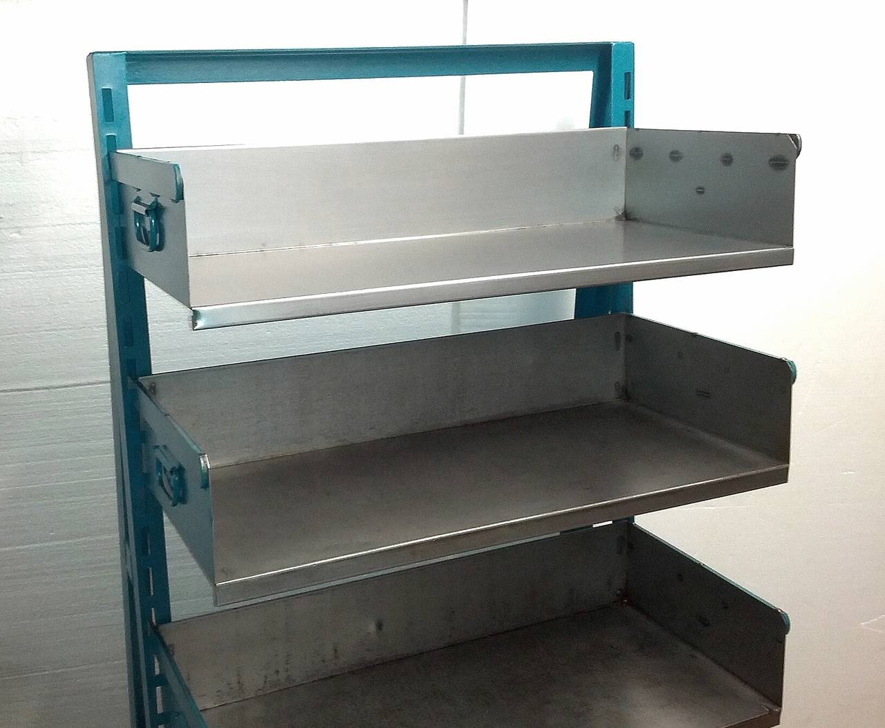 Industrial Blue and Steel Factory Storage A-Frame Rack as Shelving ...