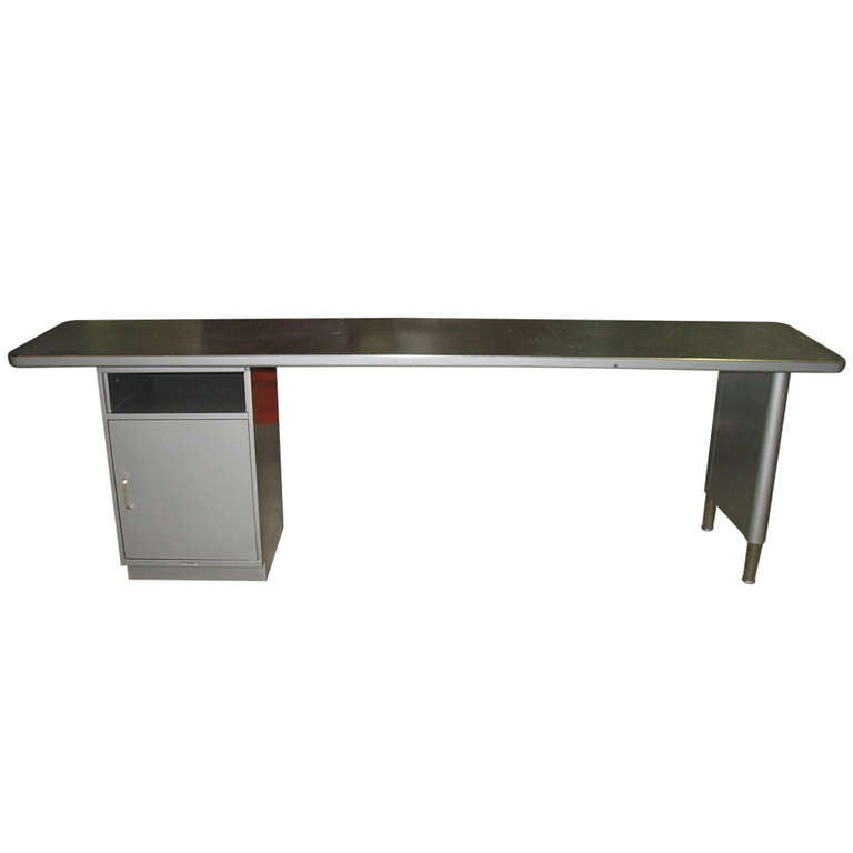 Steelcase credenza desk sofa table 8 ft long at 1stdibs for 4ft sofa table