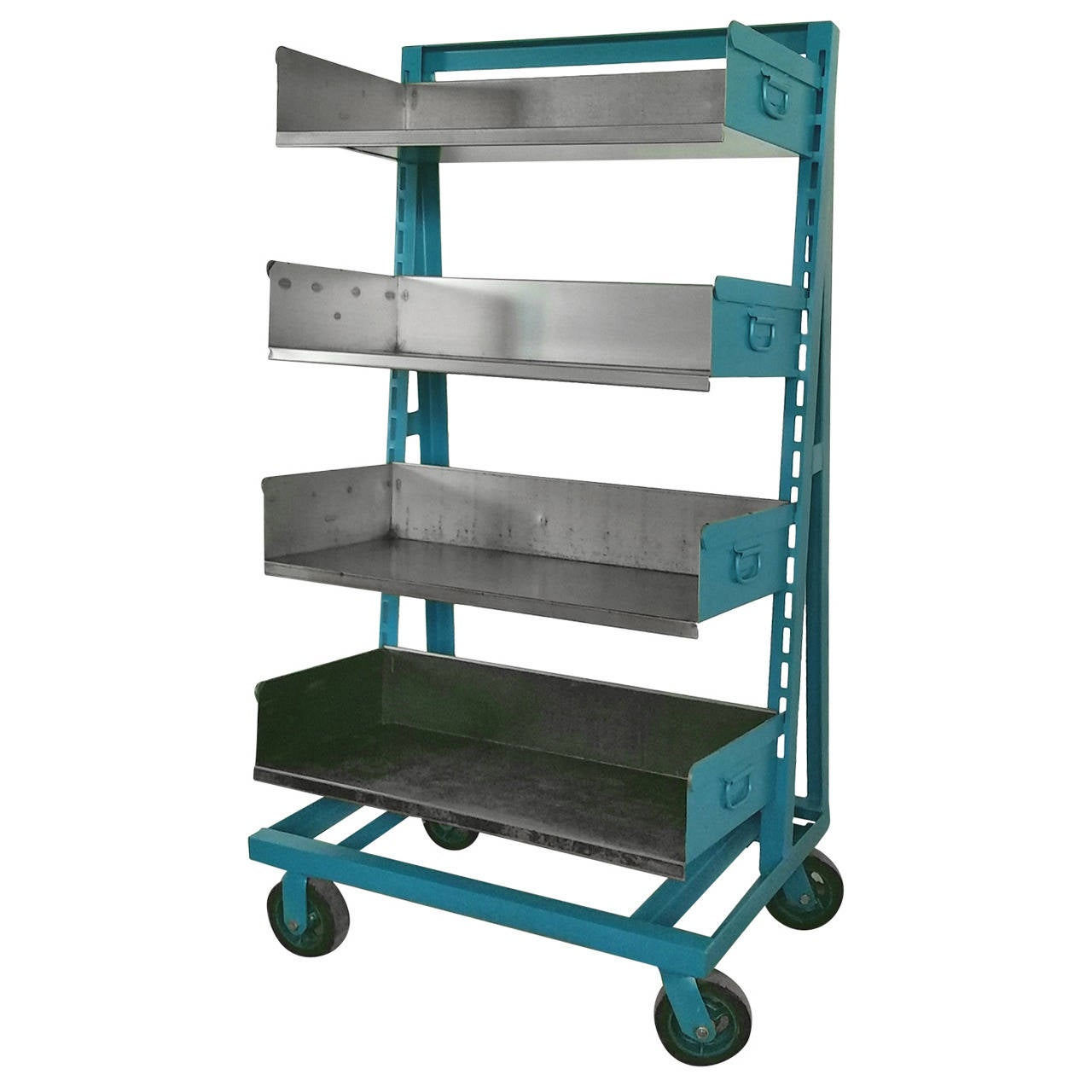 Industrial Blue And Steel Factory Storage A Frame Rack As