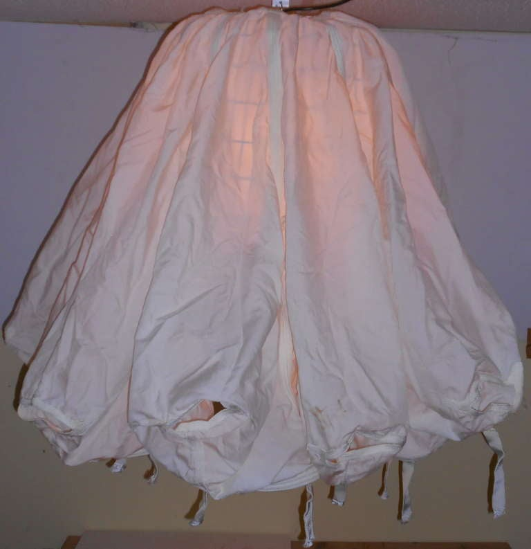 Vintage Nylon Parachute As Extraordinary Ceiling Light At