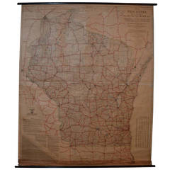 Archival Map of Wisconsin Roads, 1921 Edition