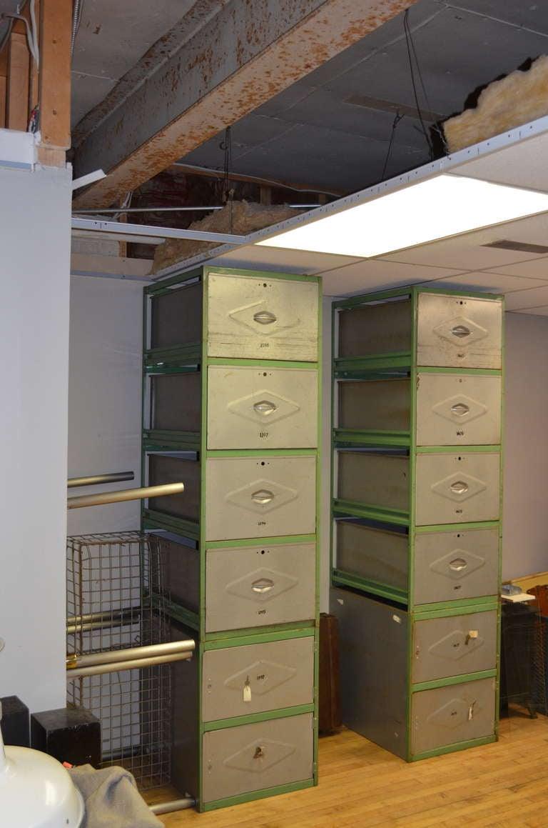 Steel Meat Locker Storage Cabinet 6 Drawer Unit At 1stdibs