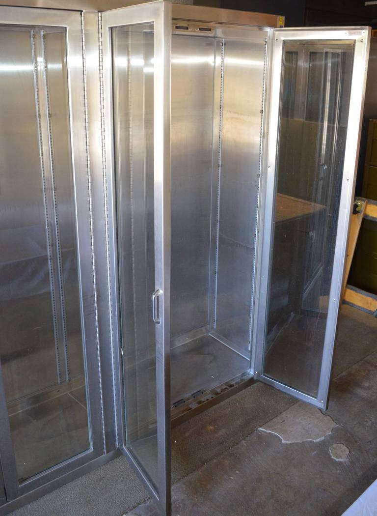 Stainless Steel Medical Cabinet With Full Length Glass