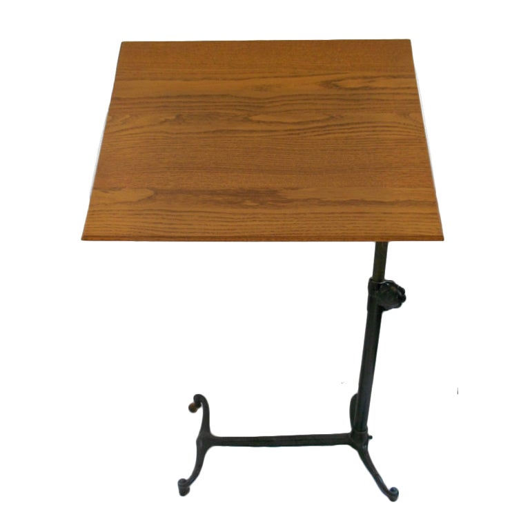 Vintage Oak Drafting Table At 1stdibs