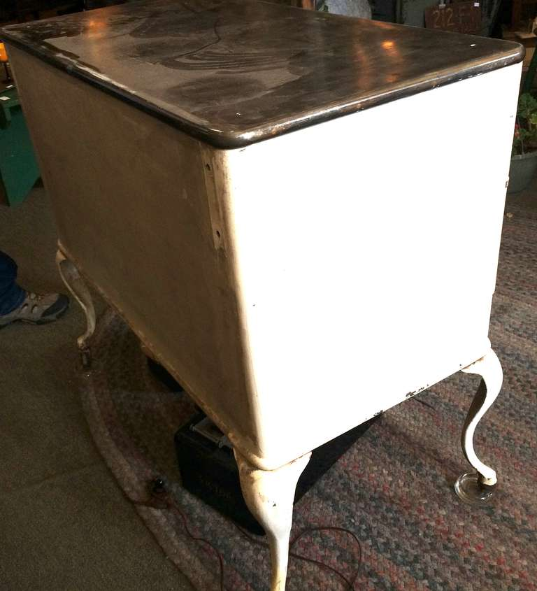 Early 20th Century Medical Cabinet With Steel Top And