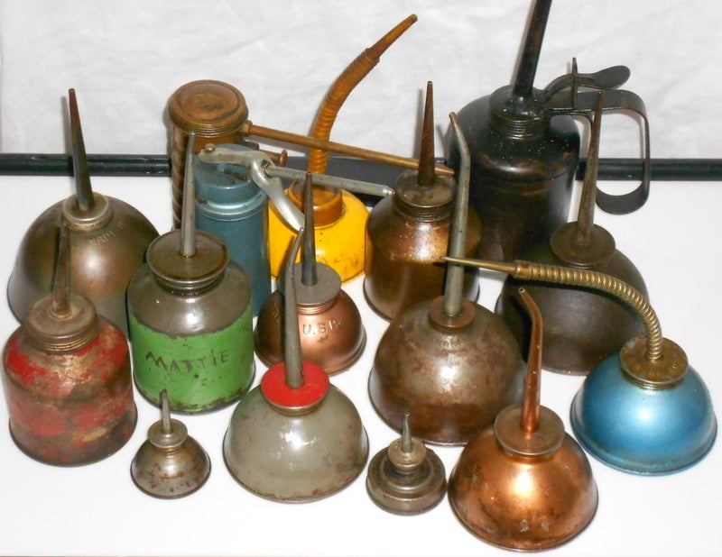 Set of industrial oil cans image 3