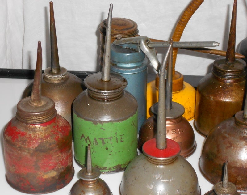 Set of industrial oil cans 4