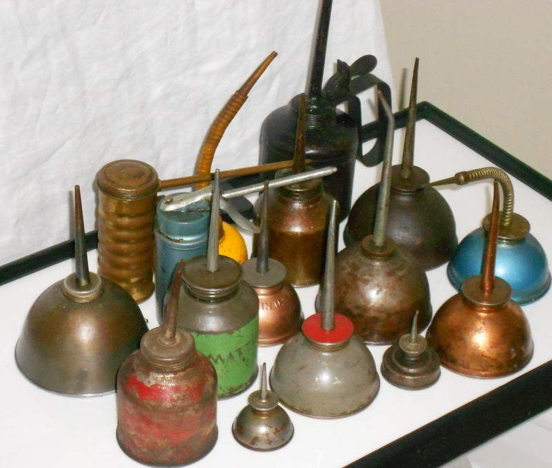Set of industrial oil cans 6