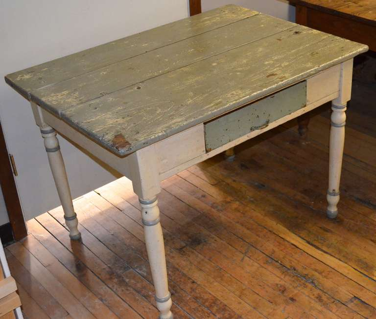 Late 1800s Painted Farm Table At 1stdibs