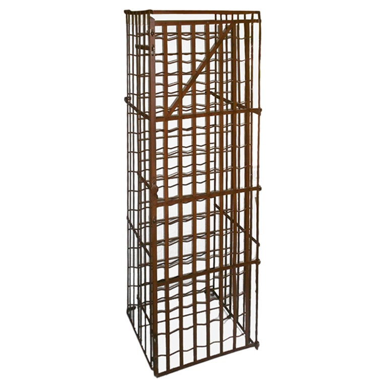 French Steel Cafe Wine Rack Late 19th Century At 1stdibs