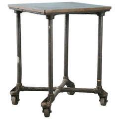 Antique Vintage Industrial Table on Castors