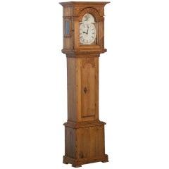 Tall Antique Danish Pine Grandfather Clock 1820-1840