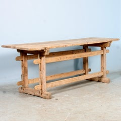 Antique Work/ Farm Trestle Table, Circa 1840-60