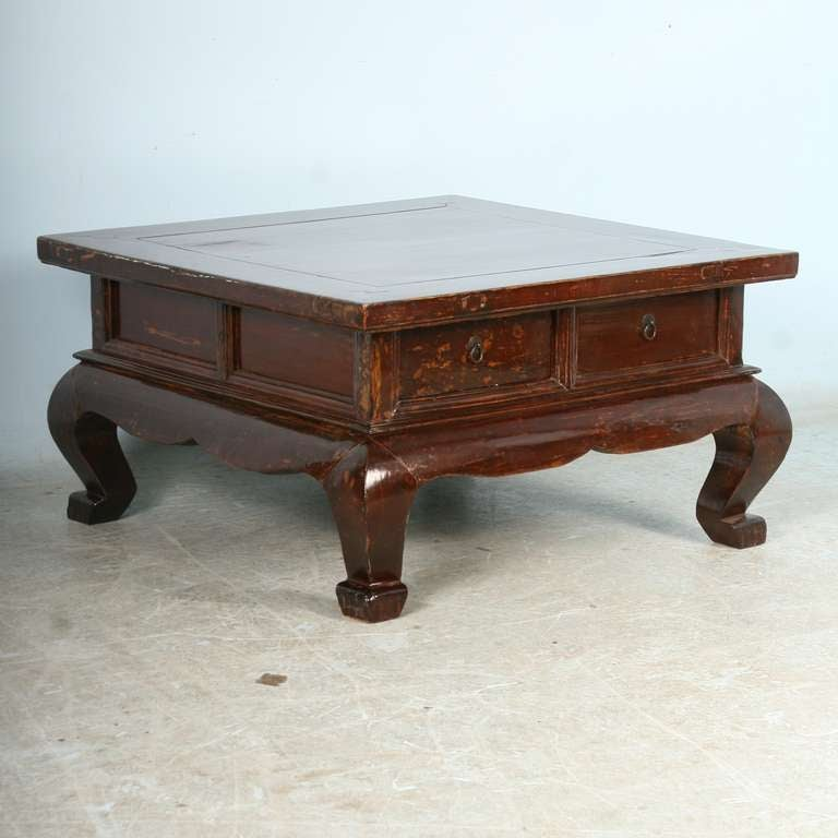 Antique Chinese Laquered Square Coffee Table circa 17701800 at