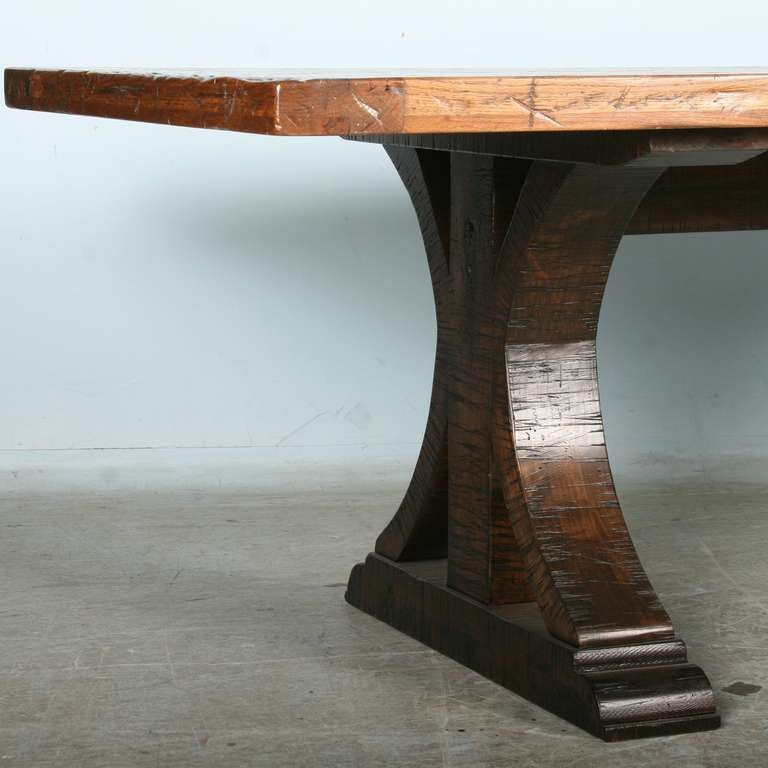 large vintage dining table from reclaimed wood 1930 40 39 s