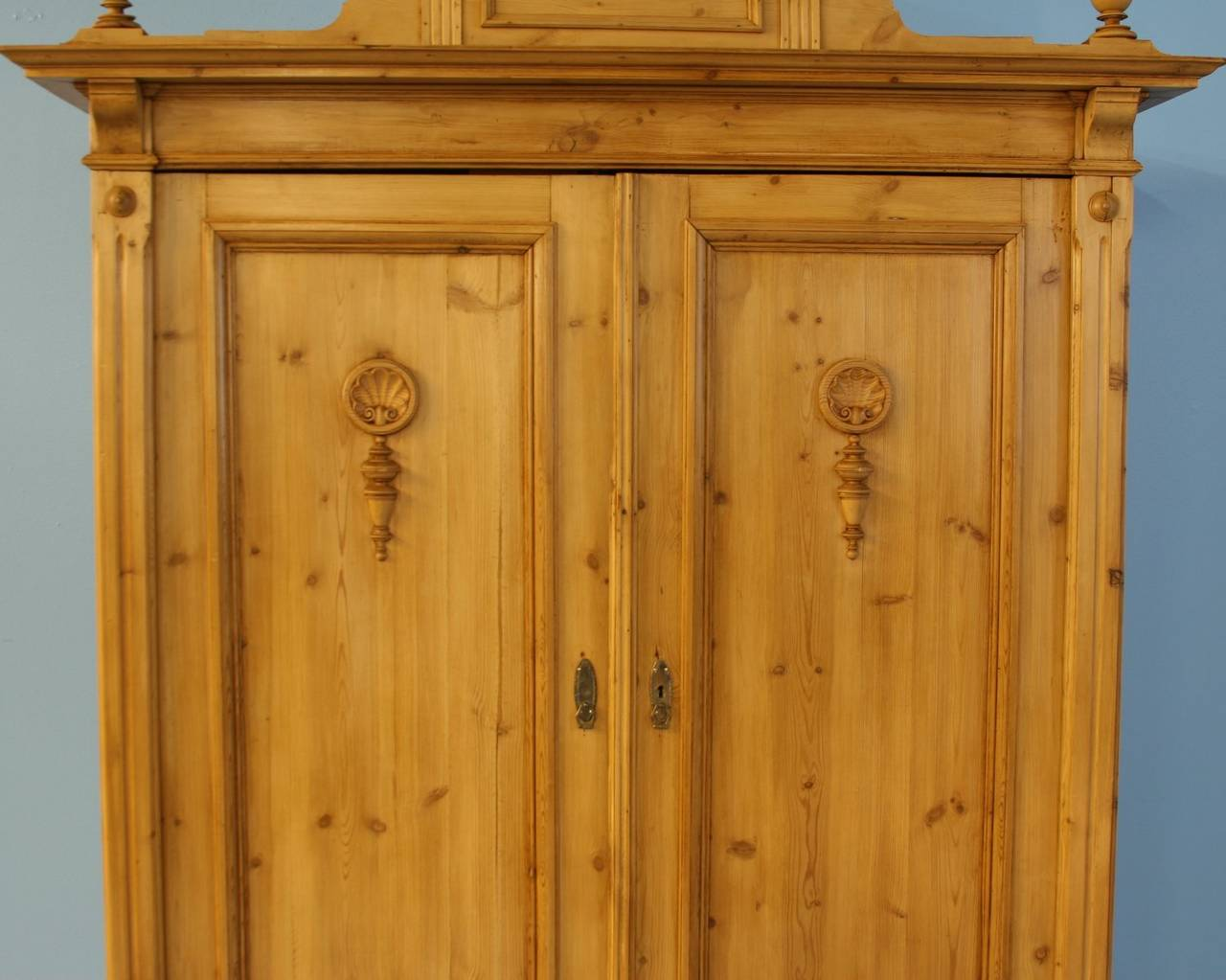Antique Large Pine Armoire Denmark Circa 1850 70 At 1stdibs