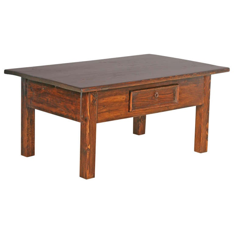 Antique swedish pine coffee table at 1stdibs for Pine coffee table
