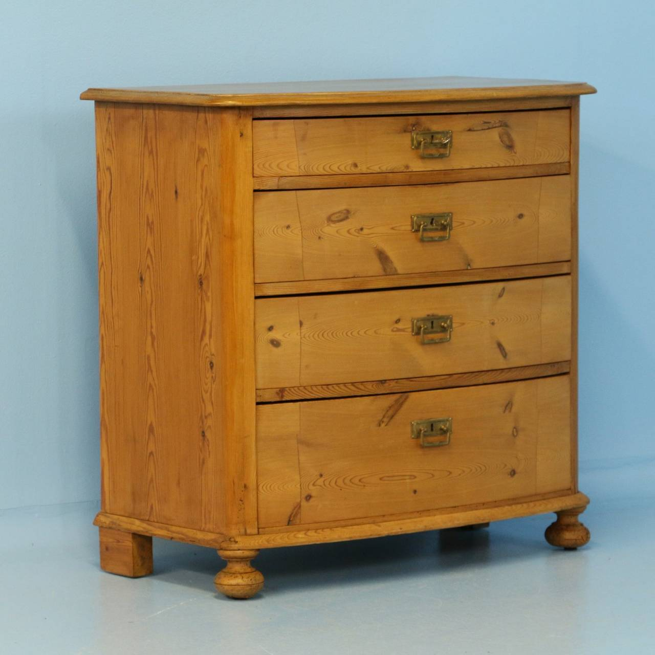 antique pine bow front chest of drawers denmark circa. Black Bedroom Furniture Sets. Home Design Ideas