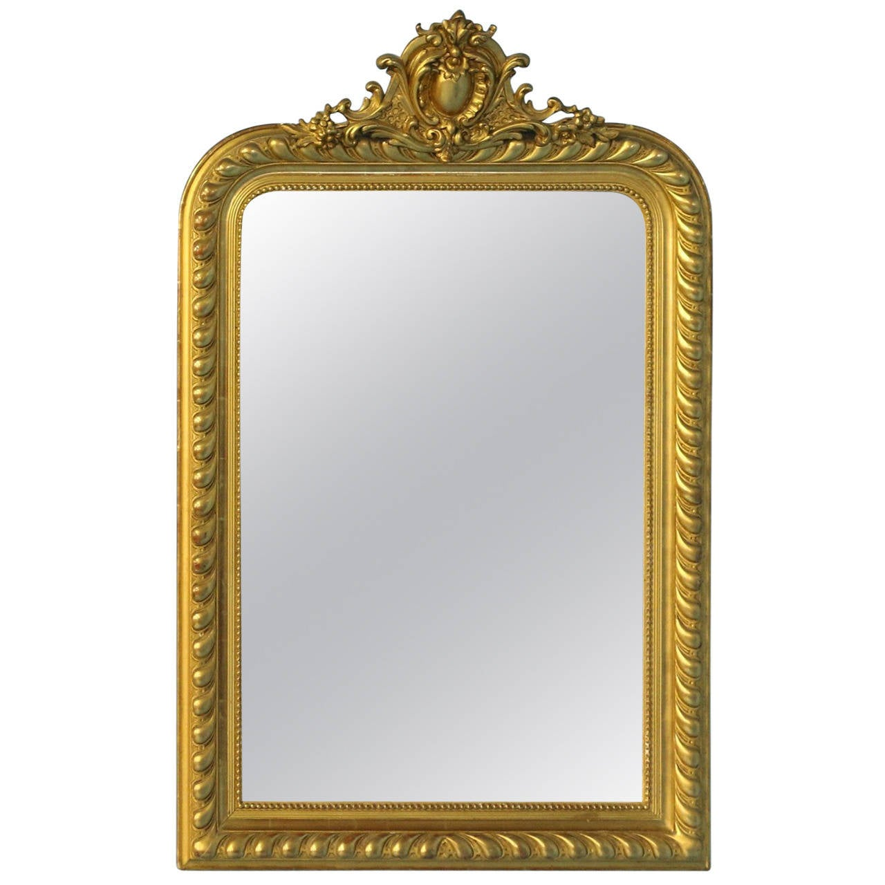 Antique french gold gilt mirror circa 1860 80 at 1stdibs for French mirror