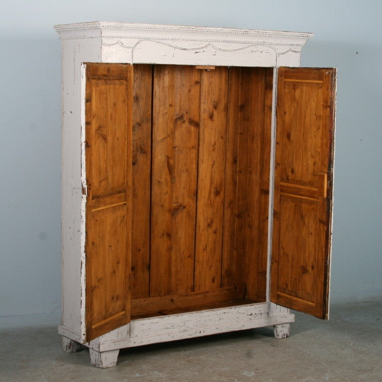 Antique White Painted Armoire Sweden Circa 1880 At 1stdibs