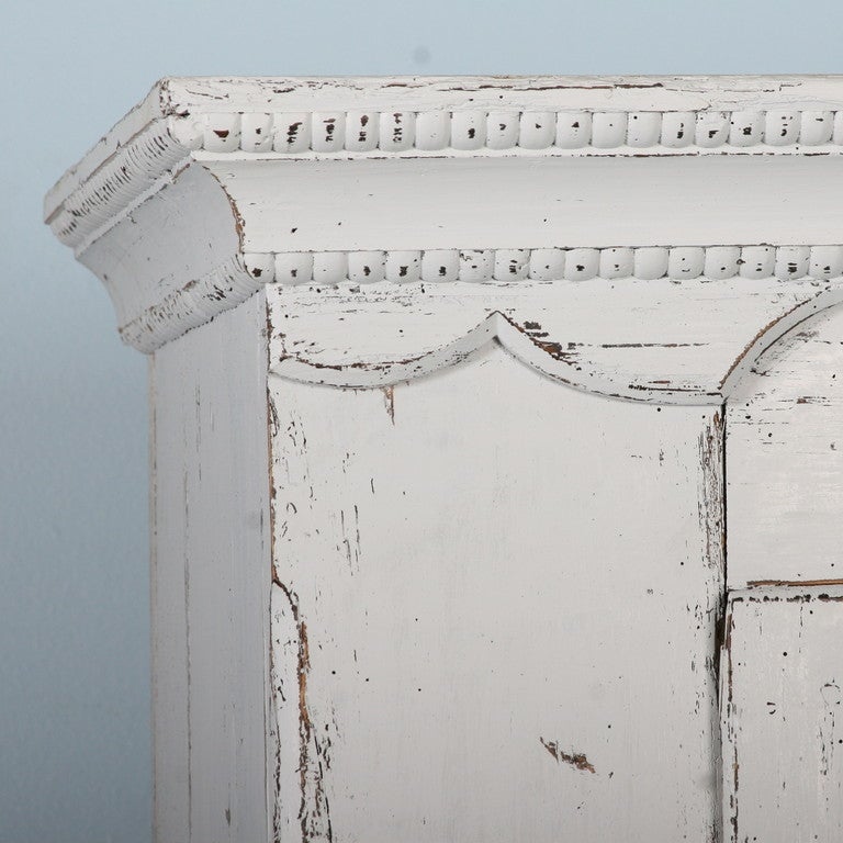 Antique White Painted Armoire, Sweden circa 1880 5