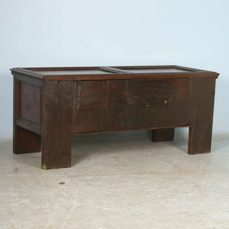 Furniture Pieces Names: Antique German Oak Coffer/Trunk With Names, Dated 1697