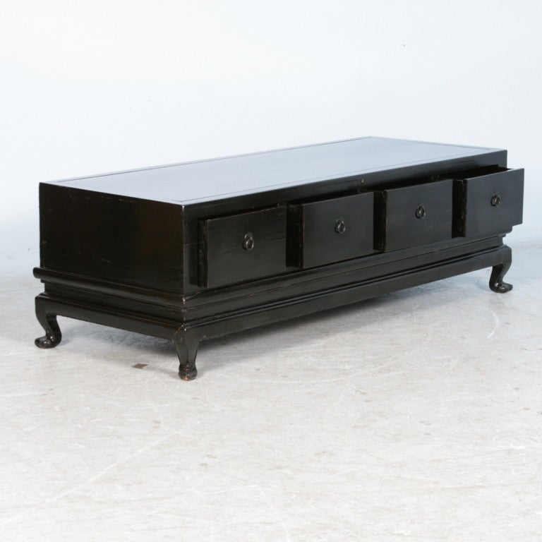 28 antique black coffee table large antique black polished
