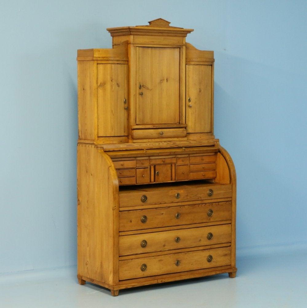 Antique Pine Secretaire with Hidden partment Denmark