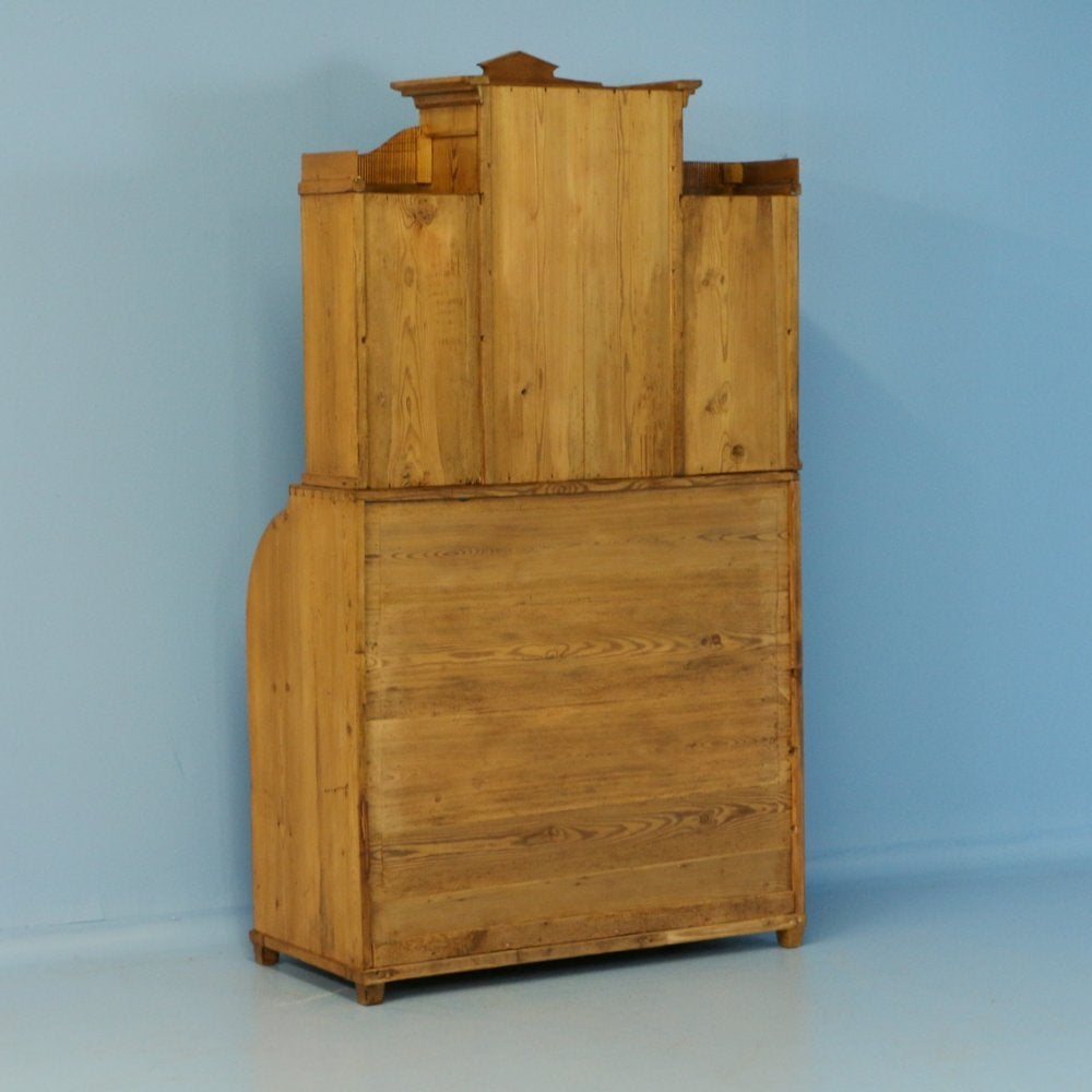 Antique Pine Secretaire With Hidden Compartment Denmark
