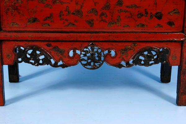 PAIR, Red Lacquered Chinese Cabinets/Armoires, Circa 1770 6