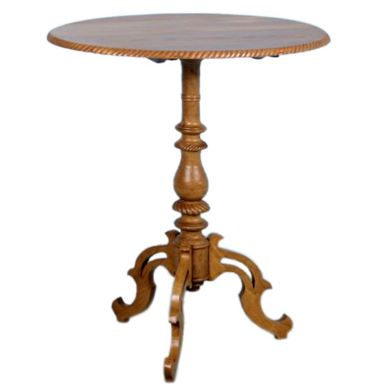 American Furniture Denver Co Small Antique Victorian Swedish Pine Side Table c.1870 at ...