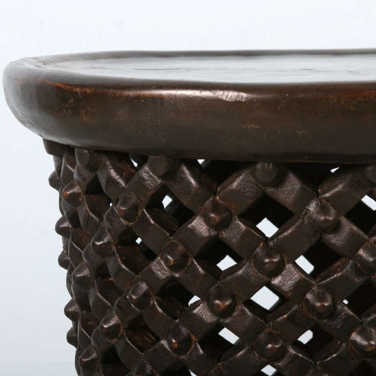 Tree Trunk Coffee Table South Africa: Vintage African Black Carved Side Table, Circa 1940 At 1stdibs