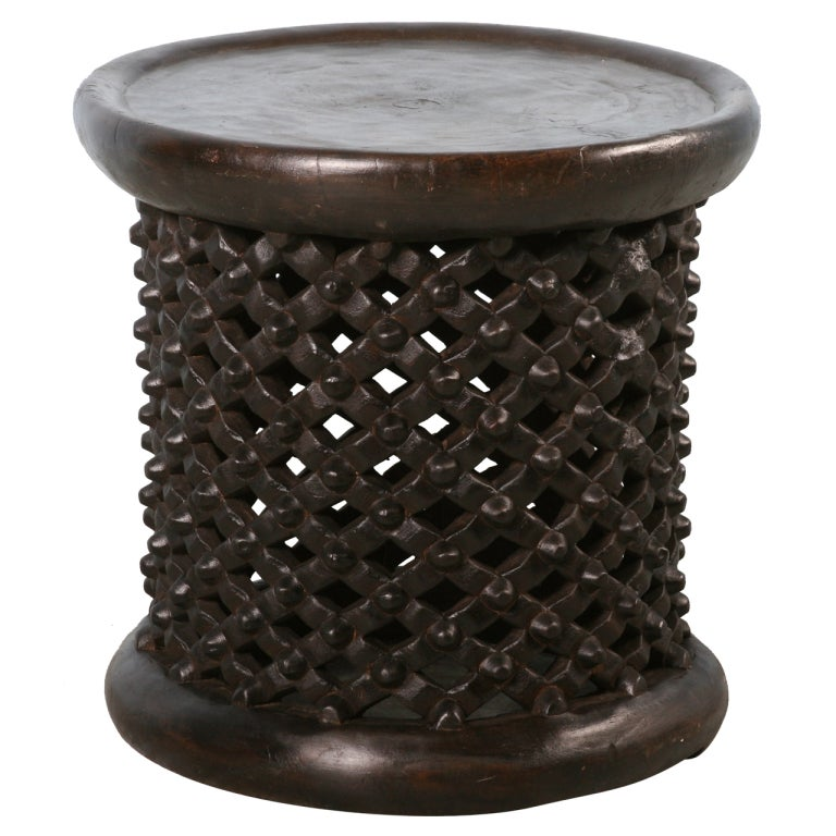 Black Coffee Table South Africa: Vintage African Carved Black Side Table, Circa 1940 At 1stdibs