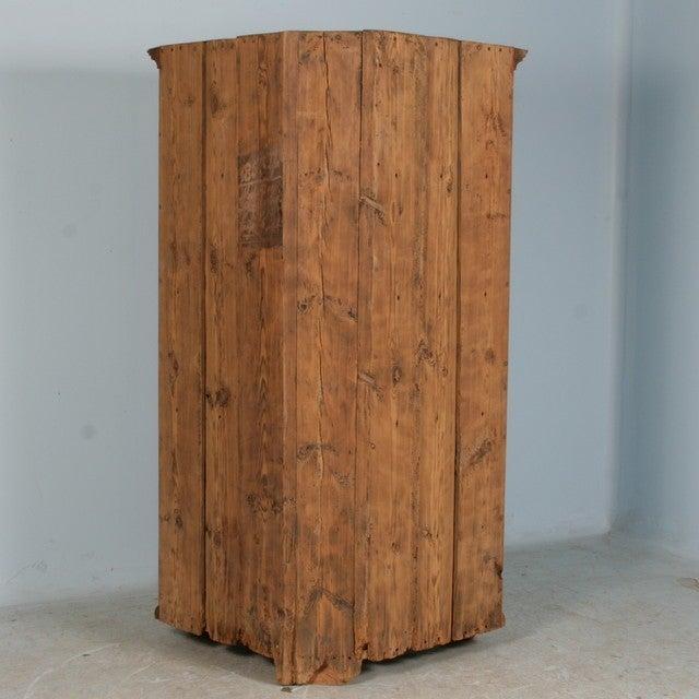 Large 1 Door Pine Corner Cabinet Sweden Dated 1853 At 1stdibs