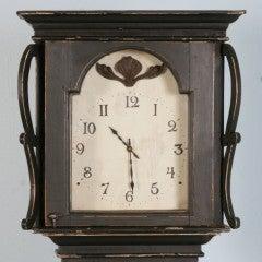 Antique Danish Black Painted Grandfather Clock image 4