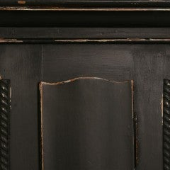 Antique Danish Black Painted Grandfather Clock image 5